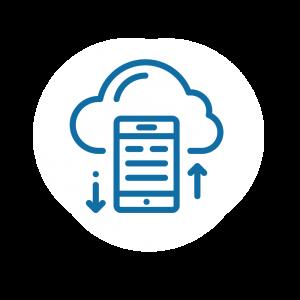 Cloud data icon.