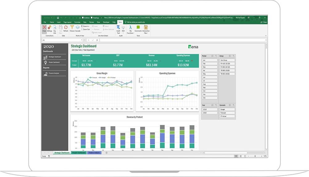 Screenshot of Vena Financial Close Management
